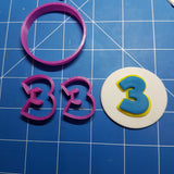 Paw Patrol Font Letters and Numbers Fondant Cookie Cutter