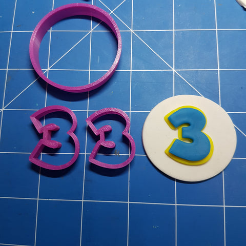 Paw Patrol Font Letters and Numbers Fondant Cookie Cutter 3cm 5cm 7cm