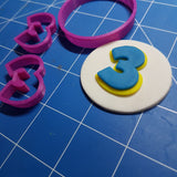 Paw Patrol Font Letters and Numbers Fondant Cookie Cutter example