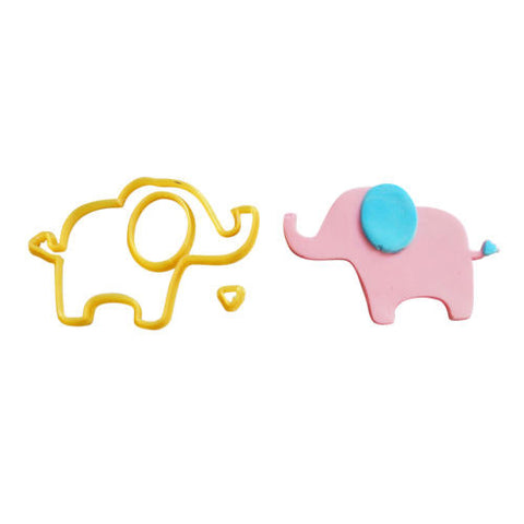 Elephant Animal Shape #1 Cookie Fondant Cutter 5cm 7cm 10cm Set Cake Decorating