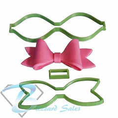 Bow Shape Cookie Fondant Cutter 5cm 7cm 10cm Set Birthday Cake Decorating Tools