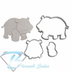Hippo Animal Shape Cookie Fondant Cutter 5cm 7cm 10cm Set Cake Decorating Tools