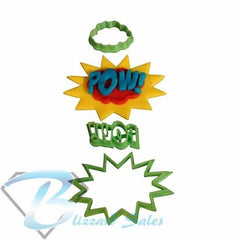 Pow! Comic Book Superhero Words Cookie Fondant Cutter