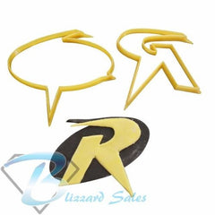 Robin Logo Cookie Fondant Cutter 5cm 7cm 10cm Set Birthday Cake Batman