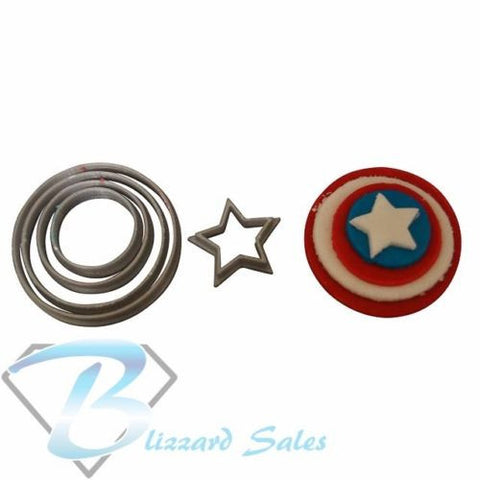 Captain America Shield Cookie Fondant Cutter