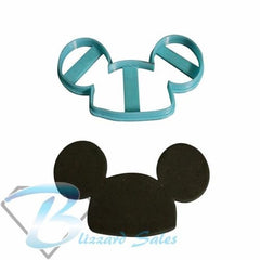 Mickey Mouse Ears Cookie Fondant Cutter 5cm 7cm 10cm Set Birthday Cake