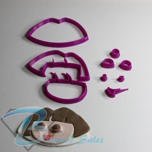 Dora The Explorer Fondant Cookie Cutter 5cm 7cm 10cm Set Birthday Cake