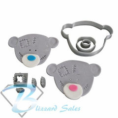 Patchwork Bear Head Cookie Fondant Cutter