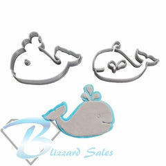 Whale Animal Shape Cookie Fondant Cutter 5cm 7cm 10cm Set Cake Decorating Tools