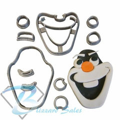 Olaf Cookie Fondant Cutter 5cm 7cm 10cm Set Birthday Cake Decorating Frozen