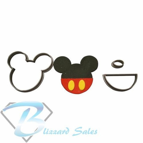 Mickey Mouse Cookie Fondant Cutter 5cm 7cm 10cm Set Birthday Cake Decorating