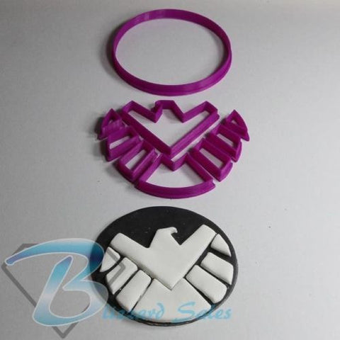 Avengers Marvel SHIELD Logo Cookie Fondant Cutter 5cm 7cm 10cm Set Birthday Cake