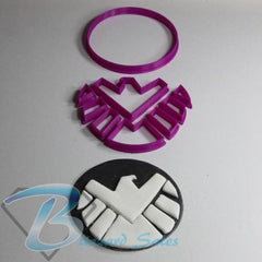 Avengers Marvel SHIELD Logo Cookie Fondant Cutter