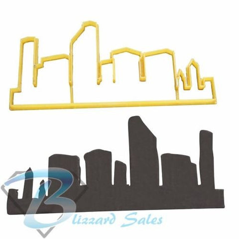 City Skyline Silhouette Cookie Fondant Cutter