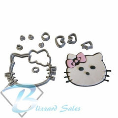 Hello Kitty Cookie Fondant Cutter 5cm 7cm 10cm Set Birthday Cake Decorating