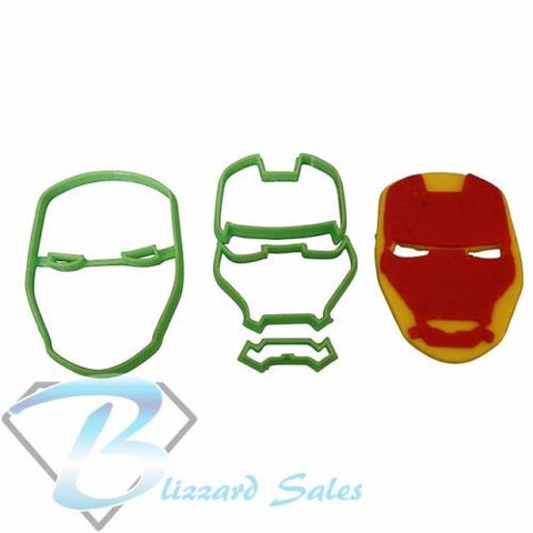 Iron Man Face Avengers Cookie Fondant Cutter 5cm 7cm 10cm Set Birthday Cake