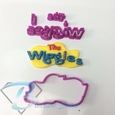 Wiggles Logo Cookie Fondant Cutter Birthday Cake Decorating 5cm 7cm 10cm Set