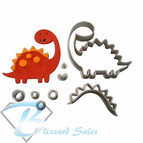 Dinosaur Shape Cookie Fondant Cutter 5cm 7cm 10cm Set Cake Decorating Tools