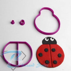 Lady Bug Animal Shape Cookie Fondant Cutter 5cm 7cm 10cm Set Cake Decorating