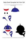 FREE Baby Shark Doo Doo Downloadable Printable Cut Out Templates