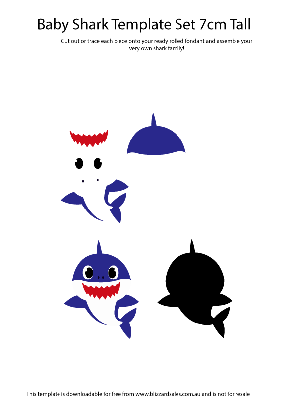 FREE Baby Shark Doo Doo Downloadable Printable Cut Out ...