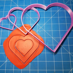 Large Love Heart Shape Cutter Set