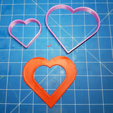 Large Love Heart Shape Cutter Set 18cm, 11cm, 7cm