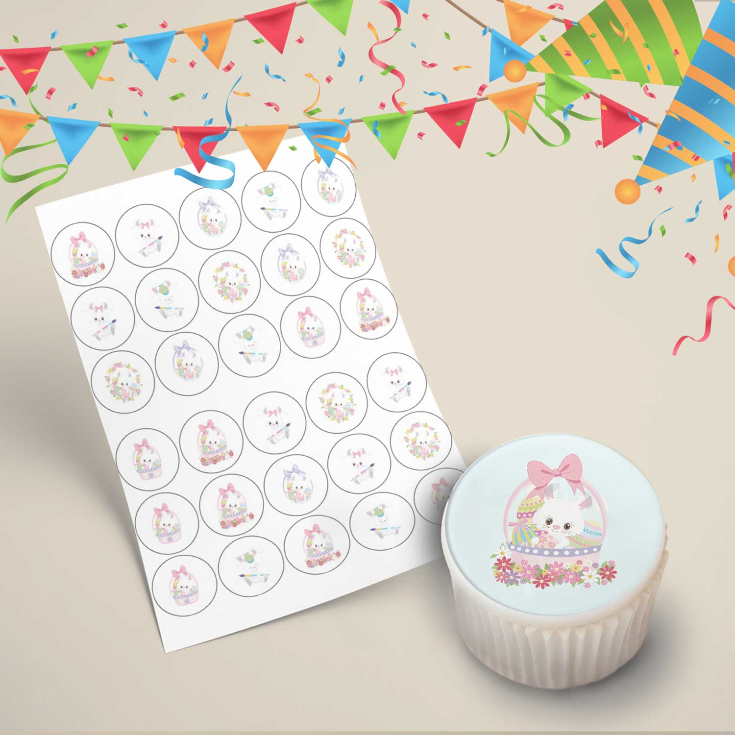 Easter Cupcake Toppers Design 1
