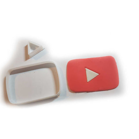 YouTube Logo Social Media Icon Cookie Fondant Cutter made by Blizzard Sales