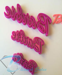 Barbie Word Logo Shape Cookie Fondant Cutter