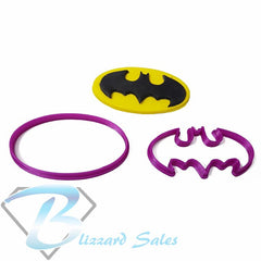 Batman Cookie Fondant Cutter 5cm 7cm 10cm 15cm Set Birthday Cake Superhero