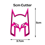 Batman Mask Cookie Fondant Cutter 5cm 7cm 10cm Set Birthday Cake Decorating