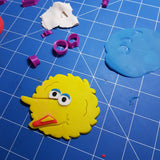 Big Bird Character Cookie Fondant Cutter in 5cm 7cm 10cm or a set of 3 sizes Sesame St