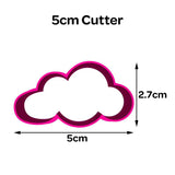 Cloud Shaped Cookie Fondant Cutter 5cm 7cm 10cm Cake Decorating Tools 5 Designs
