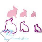 Easter Basket Bunny Eggs Chicken Fondant Cookie Cutter Set of 3 Sizes