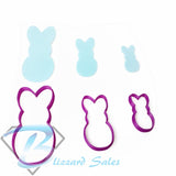 Easter Bunny Cookie Fondant Cutter Design #2