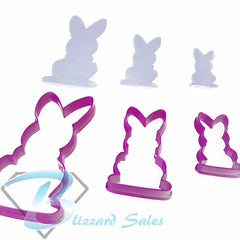 Elegant Easter Bunny Cookie Fondant Cutter Design #3