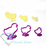Easter Chickens Cookie Fondant Cutter