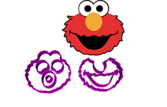 Elmo Character Cookie Fondant Cutter in 5cm 7cm 10cm or a set of 3 sizes Sesame St