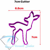Fawn Baby Deer Shape Cookie Fondant Cutter 5cm 7cm 10cm Set Cake Decorating
