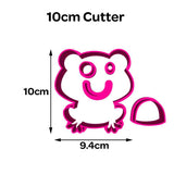 Frog Animal Shape Cookie Fondant Cutter 5cm 7cm 10cm Set Cake Decorating Tools
