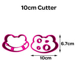 Frog Face Shape Cookie Fondant Cutter 5cm 7cm 10cm Set Cake Decorating Tools