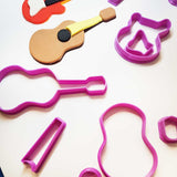 Guitar Electric Cookie Fondant Cutter