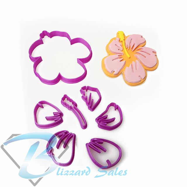 Hibiscus Flower Cookie Fondant Cutter Blizzard Sales