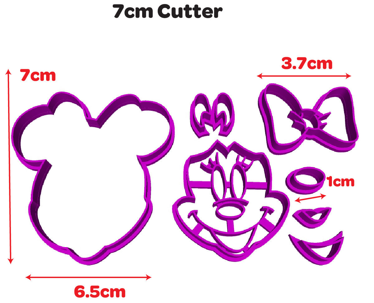 Minnie Mouse Face Disney Cookie Fondant Cutter from Blizzard Sales 7cm