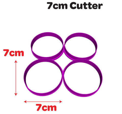 7cm Multi Circle Cookie Fondant Cutter Cake Decorating Tool