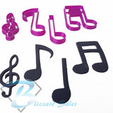 Set of Music Notes Fondant Cookie Cutter