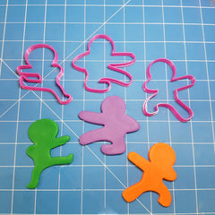 NinjaBread Men Cookie Fondant Cutters 5cm 7cm 10cm Set of 3 Sizes