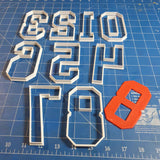 College Font Number Cutters