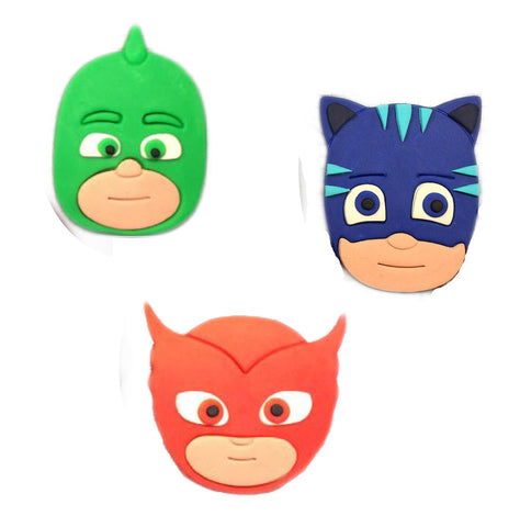 PJ Masks Set of 3 Cookie Fondant Cutter- Cat Boy, Owlette and Gekko